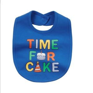 Baby boy time for cake graphic bib